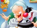 Sort My Tiles - Sylvester Tweety